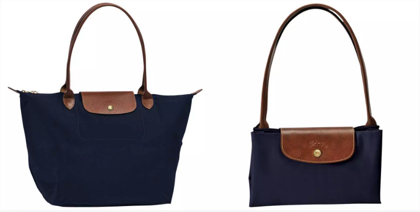 Cheap Longchamp Le Pliage Navy Blue Shopping Bag L