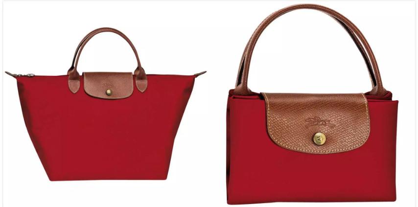 Cheap Longchamp Le Pliage Short Handle M Red Clutch