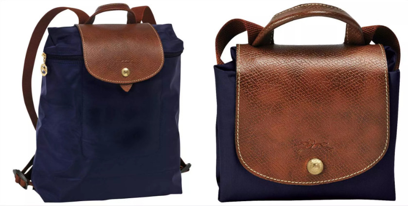 Cheap Longchamp Le Pliage navy blue backpack
